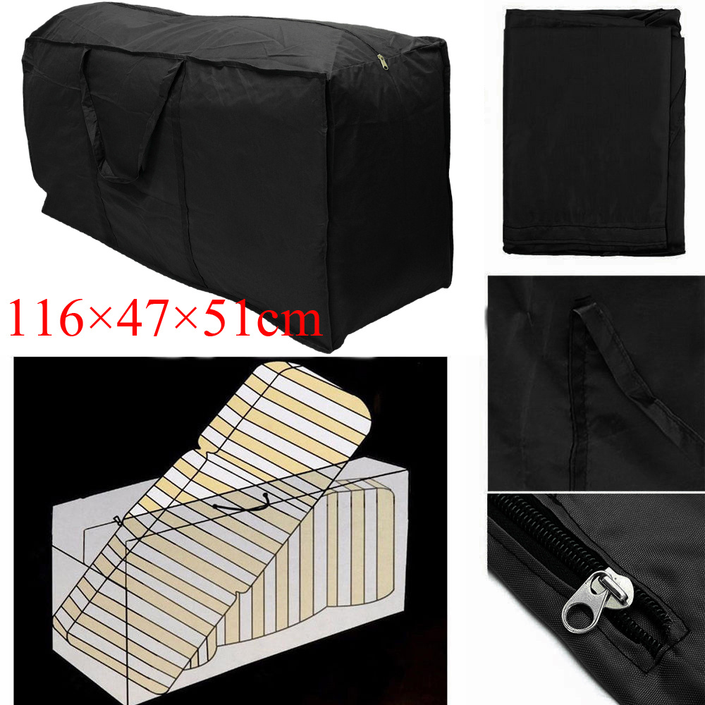 Outdoor Rectangular Protective Zippered Patio Seat Furniture Cushion Storage