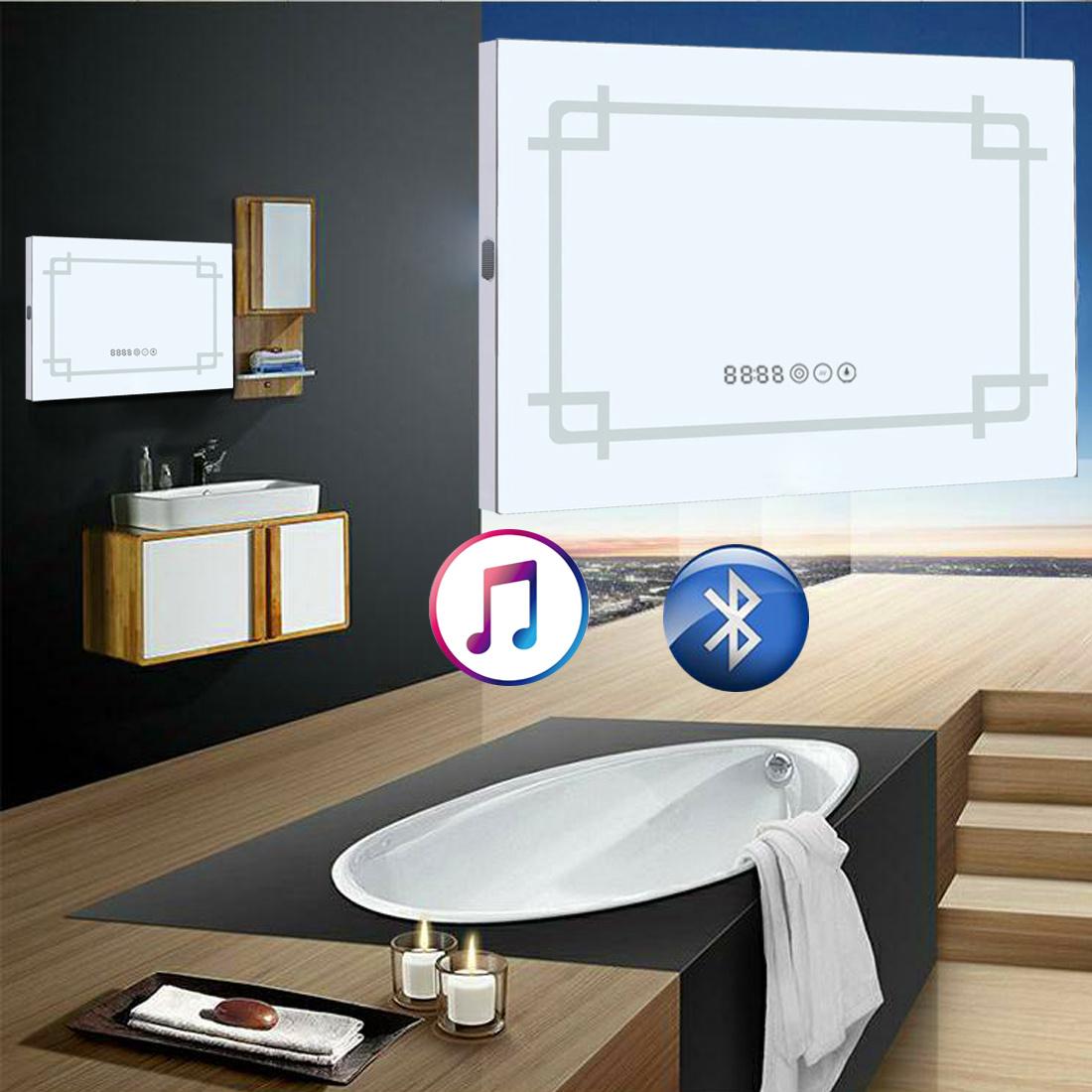 Vanity With Lights And Bluetooth : Wall Mounted LED Light Illuminated Vanity Mirror Bluetooth Speaker Sensor Socket eBay