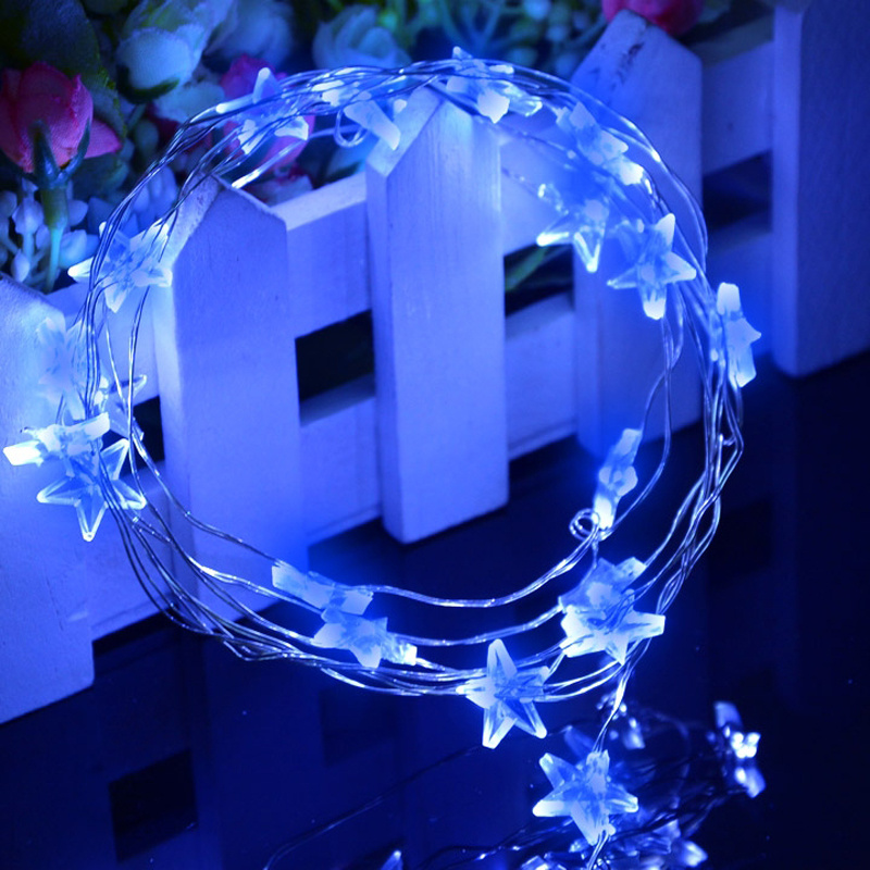 Mini Star String Lights : BATTERY OPERATED MINI LED STRINGS COPPER WIRE STAR FAIRY STRING LIGHTS STATIC 5M