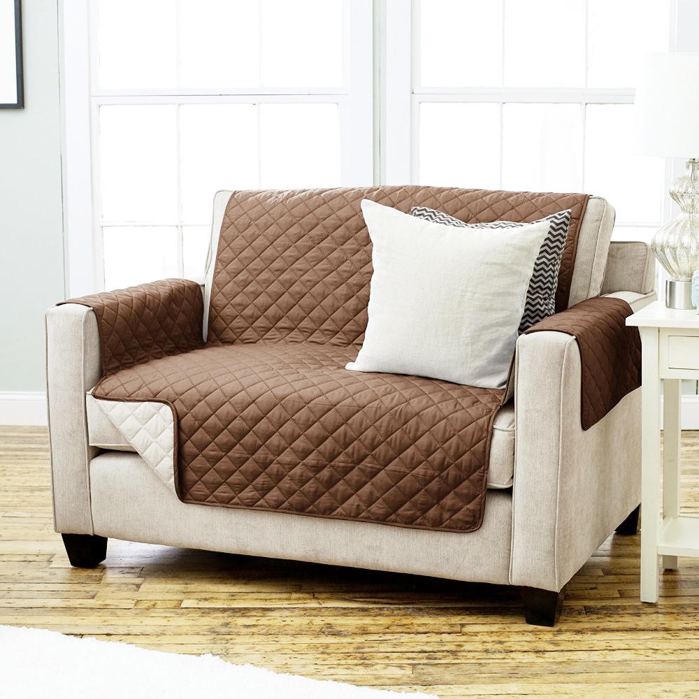1/2/3 Seater Sofa Couch Arm Chair Slip Cover Quilted