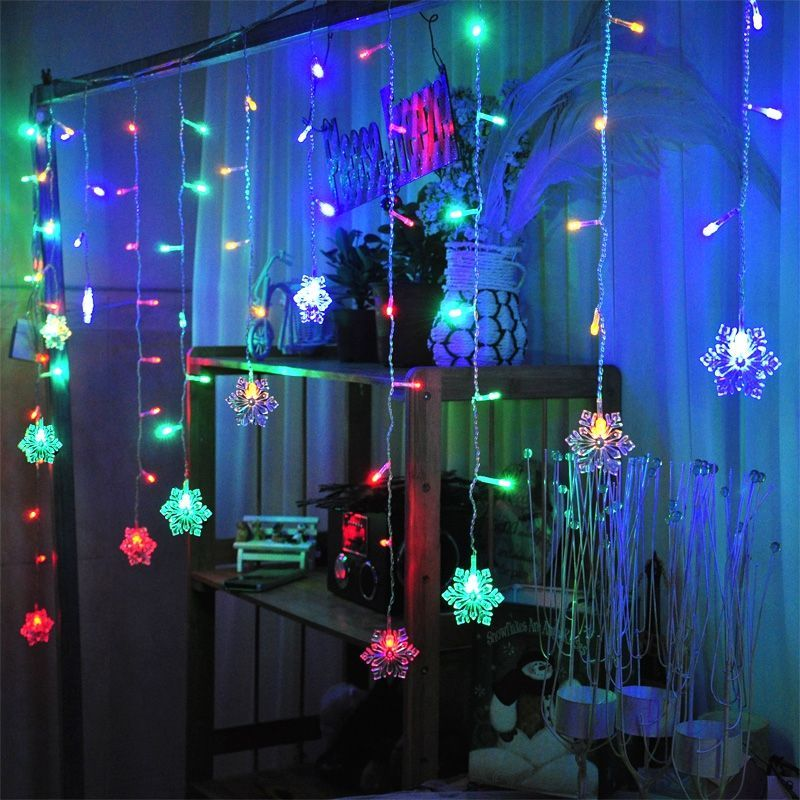 Mains Power Operated Outdoor Fairy Lights String LED Connectable 3M*1M Christmas