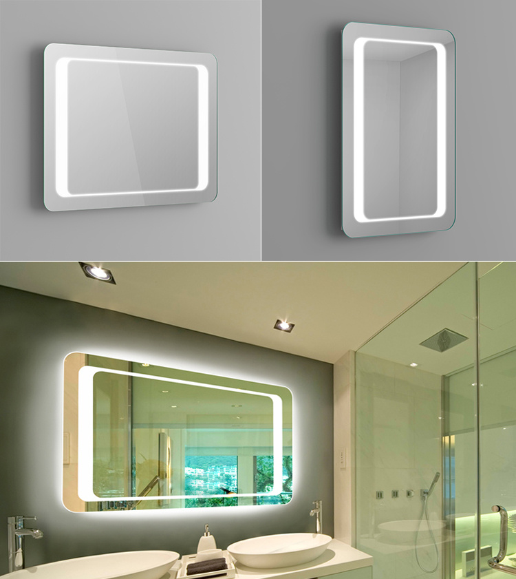 Illuminated LED Bathroom Mirror Backlit with Steam Free Demister ...