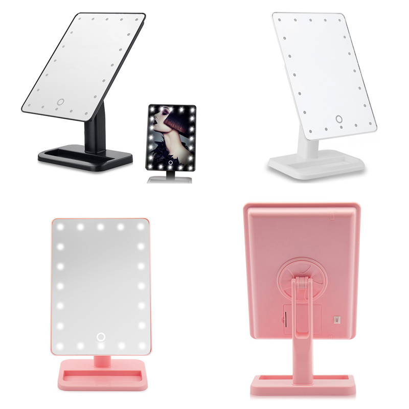 Vanity Mirrors With Lights Free Standing : Touch Screen 20 LED Light Illuminated Makeup Shaving Vanity Mirror Free Standing eBay