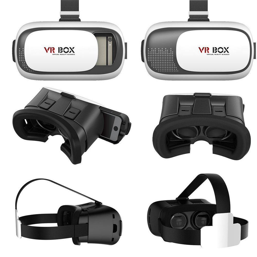 3d vr box virtual reality glasses goggles helmet headset remote for iphone 6 7 ebay. Black Bedroom Furniture Sets. Home Design Ideas