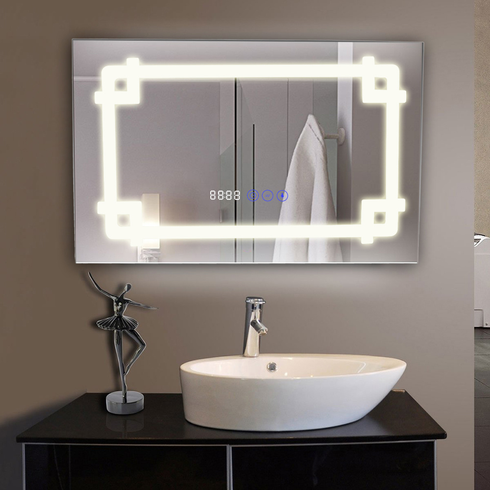 Bluetooth bathroom light mirrors demister w demister shaver socket touch sensor ebay for Bathroom light with bluetooth speaker