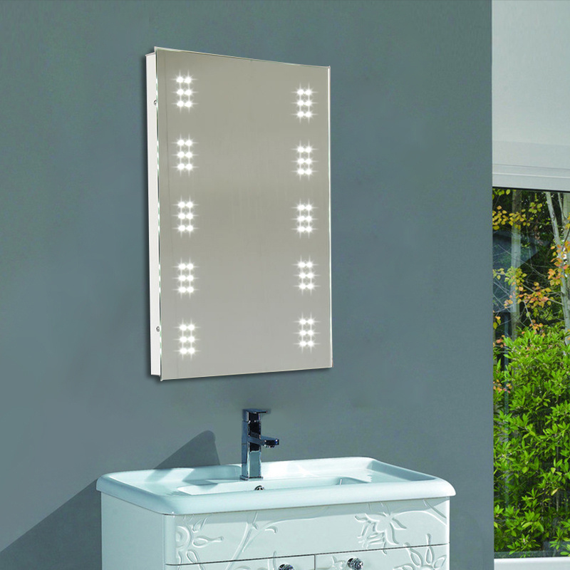60 Led Illuminated Bathroom Cabinet Mirror Touch Sensor Demister Shaver Socket Ebay