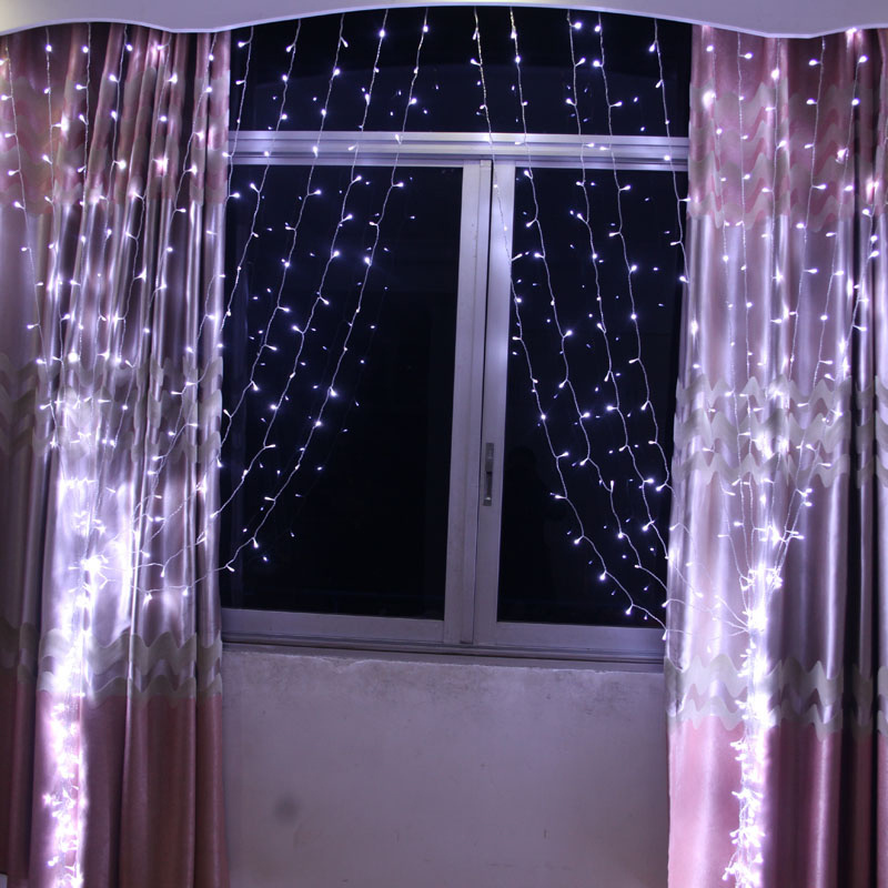 Connectable 3x3M LED White Light Curtain String Fairy Lights Wedding Wall Decor eBay
