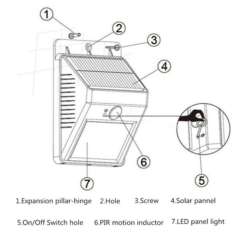 8 led solar powered gargen pir wireless light motion sensor security floodlight