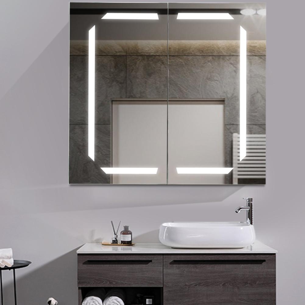 Bathroom Led Lighted Mirror Cabinet