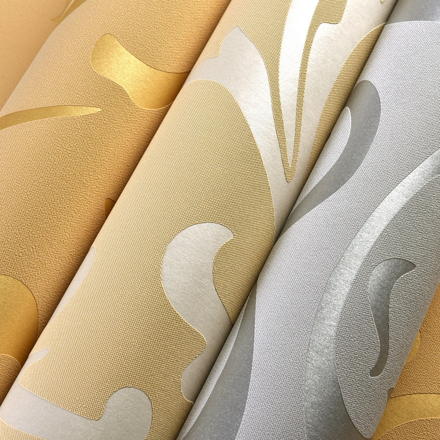 Victorian Damask Luxury Embossed Wallpapers Rolls Gold