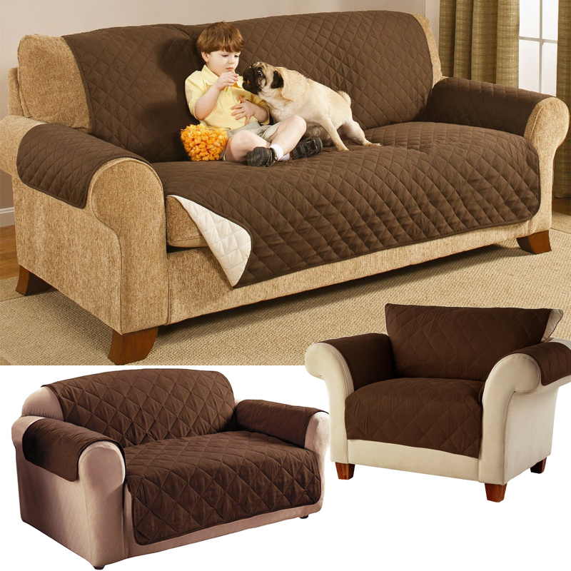 1 3 seater sofa settee protector furniture throw quilted pet dog cat slip cover ebay. Black Bedroom Furniture Sets. Home Design Ideas