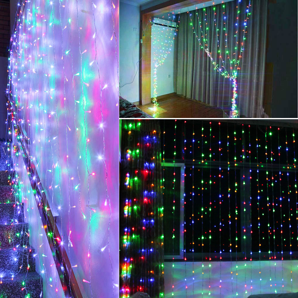 3m*3m Linkable 300 Led String Curtain Light Gazebo Porch Veranda Window Pergola eBay