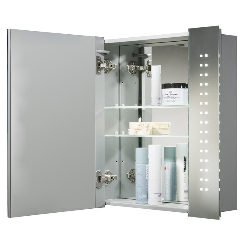 60 led illuminated touch sensor bathroom mirrors cabinets 15583
