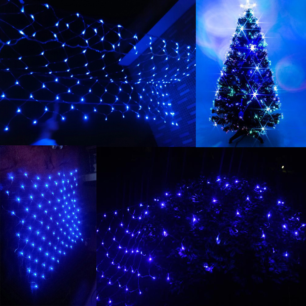 Drape String Lights Ceiling : 3M-30M Fairy String Net Curtain Mesh LED Xmas Party Ceiling Lights Outdoor Lamps eBay