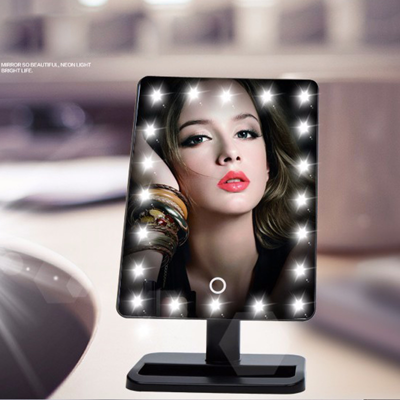 pro makeup mirror touch screen vanity mirror with led lights shaving. Black Bedroom Furniture Sets. Home Design Ideas