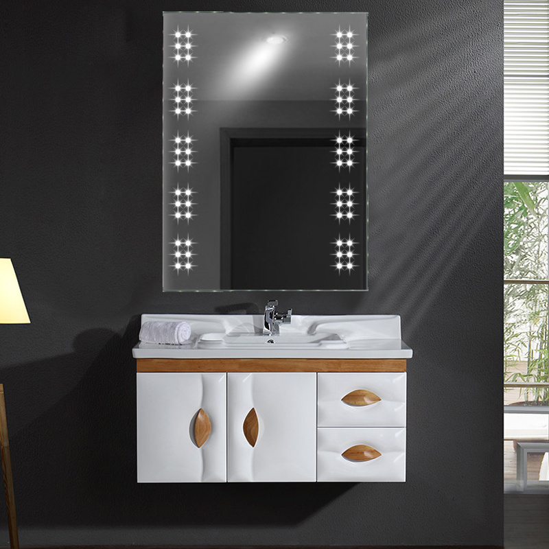bathroom wall mirrors with lights 60 leds ir touch sensor illuminated wall mounted vanity 22578