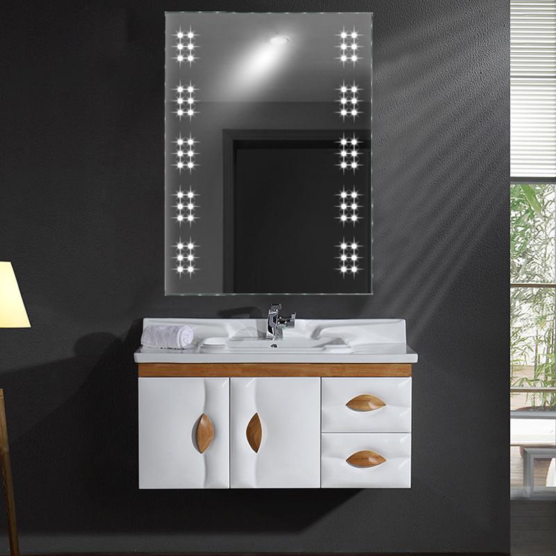 Bathroom Led Light Mirror With Toothbrush Shaver Socket