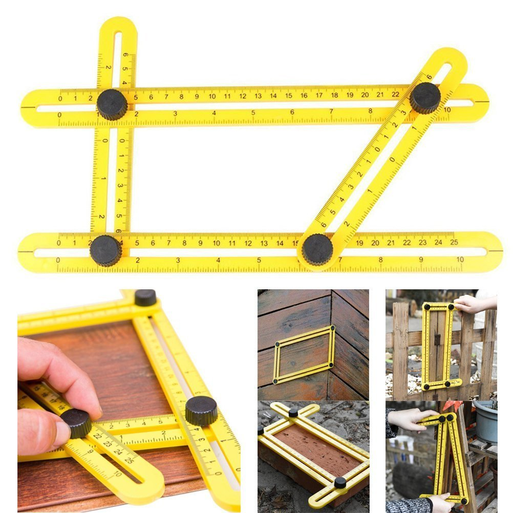 Angle Analyzer Templator Measuring Protractor Ruler