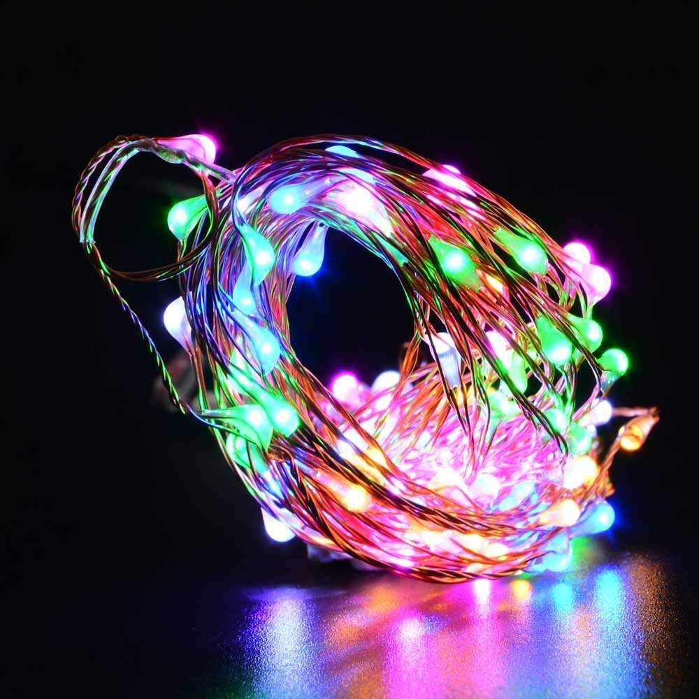 Fairy String Lights Plug In : Plug In 10M 100 LED Micro Wire Silver Copper Fairy String Lights Party Wedding eBay