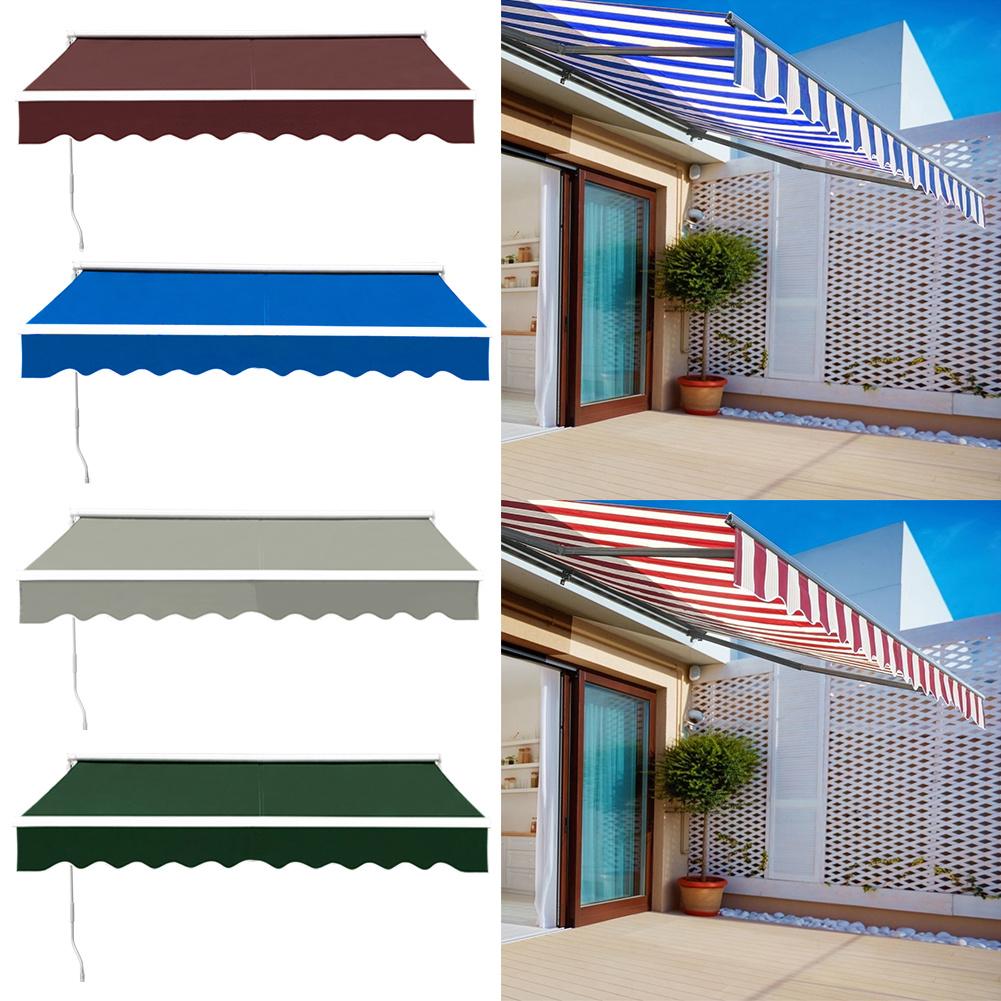 2//2.5//3//3.5//4M Patio Manual Awning Garden Canopy Sun Shade Shelter Retractable