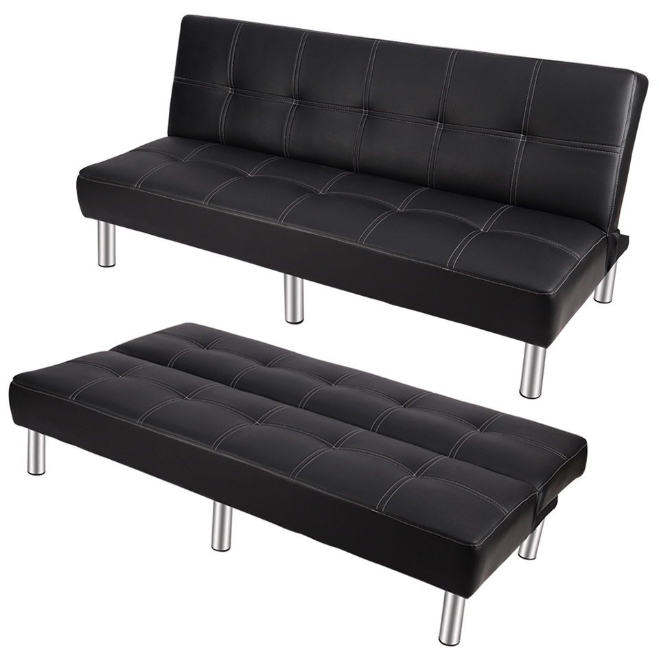 Details About Sofa Bed Modern Home Office 3 Seater Faux Leather Sofabed Recliner Chair Couch