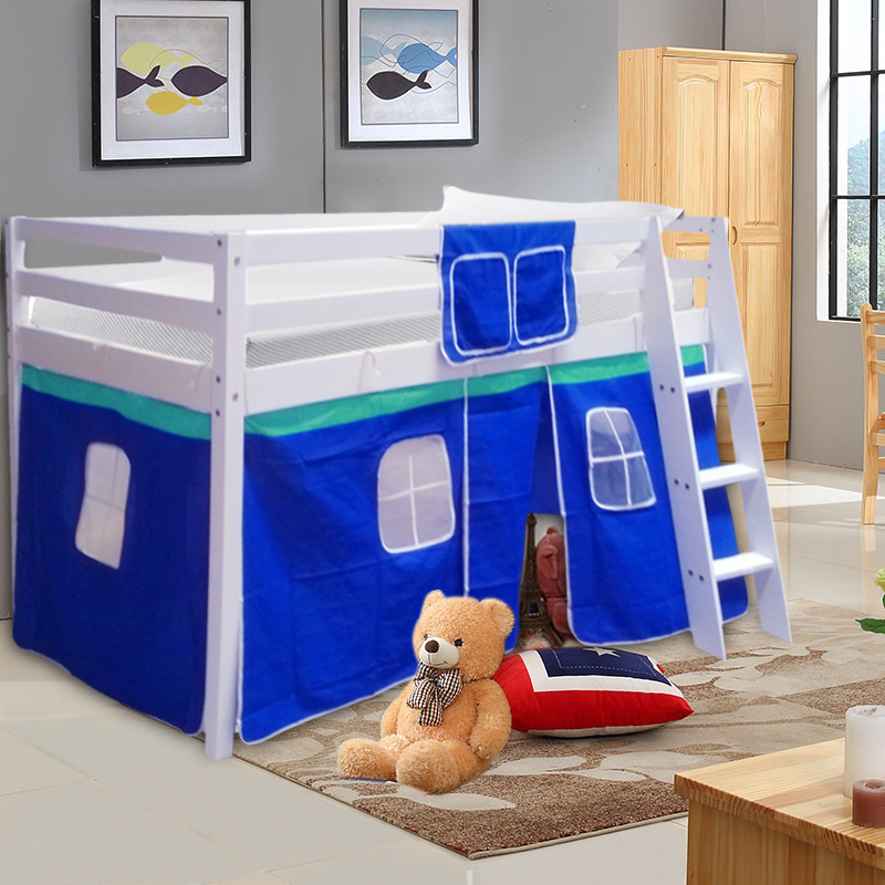 Details about White Cabin Bed Mid Sleeper Bunk Kids Children Tents Wooden 3FT Boy Girl Bedroom & White Cabin Bed Mid Sleeper Bunk Kids Children Tents Wooden 3FT Boy ...