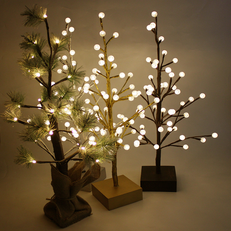 Pre Lit Led Lights Christmas Tree: Pre-Lit LED Christmas Tree Twig Lights Tree Warm White