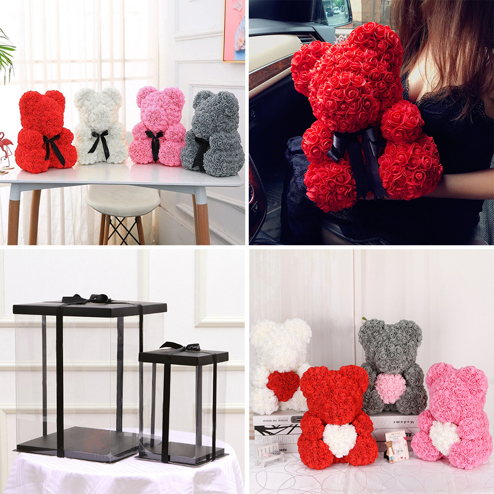 Rose Dog Teddy Bear Luxury Foam Birthday Wedding Valentine Mother/'s Day Gifts