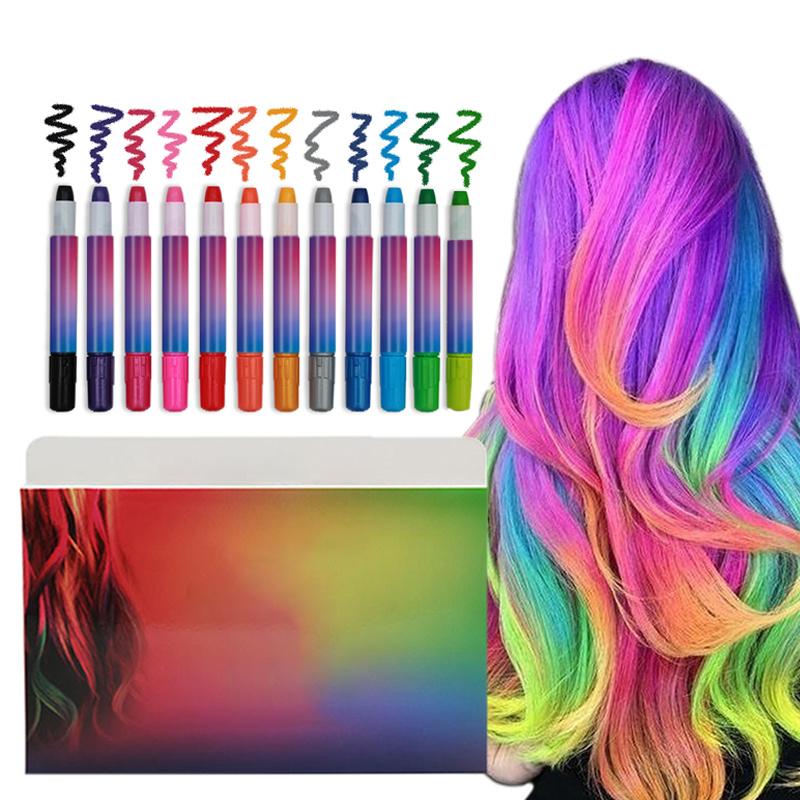 Details about Hair Coloring Pen Temporary Hair Dye Hair Color Chalk Pen  Nontoxic Safe Kid Gift