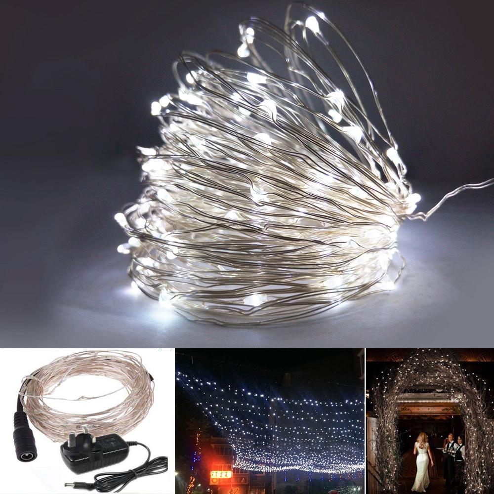 Led String Lights Dc : 33FT 100 LED DC 12 VOLT BENDABLE COPPER MATERIAL WIRE STRING FAIRY LIGHT STATIC