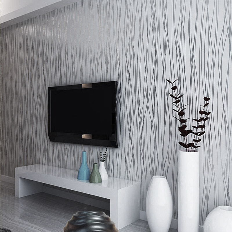 Details About 3d Grey Silver Silk Metallic Glitter Stripes Textured Striped Embossed Wallpaper