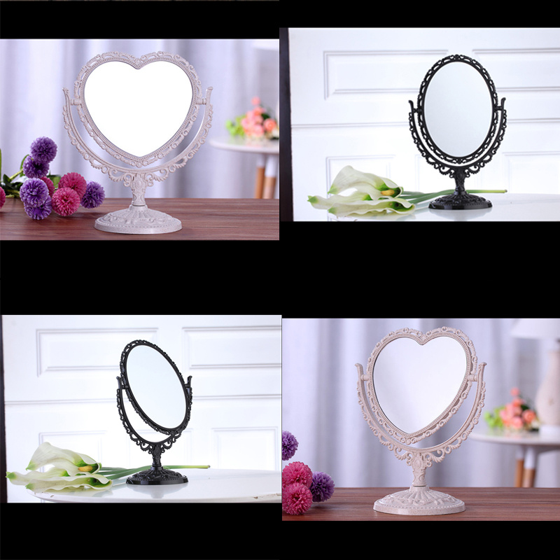 Oval round heart new vanity make up cosmetic table for 7 foot mirror