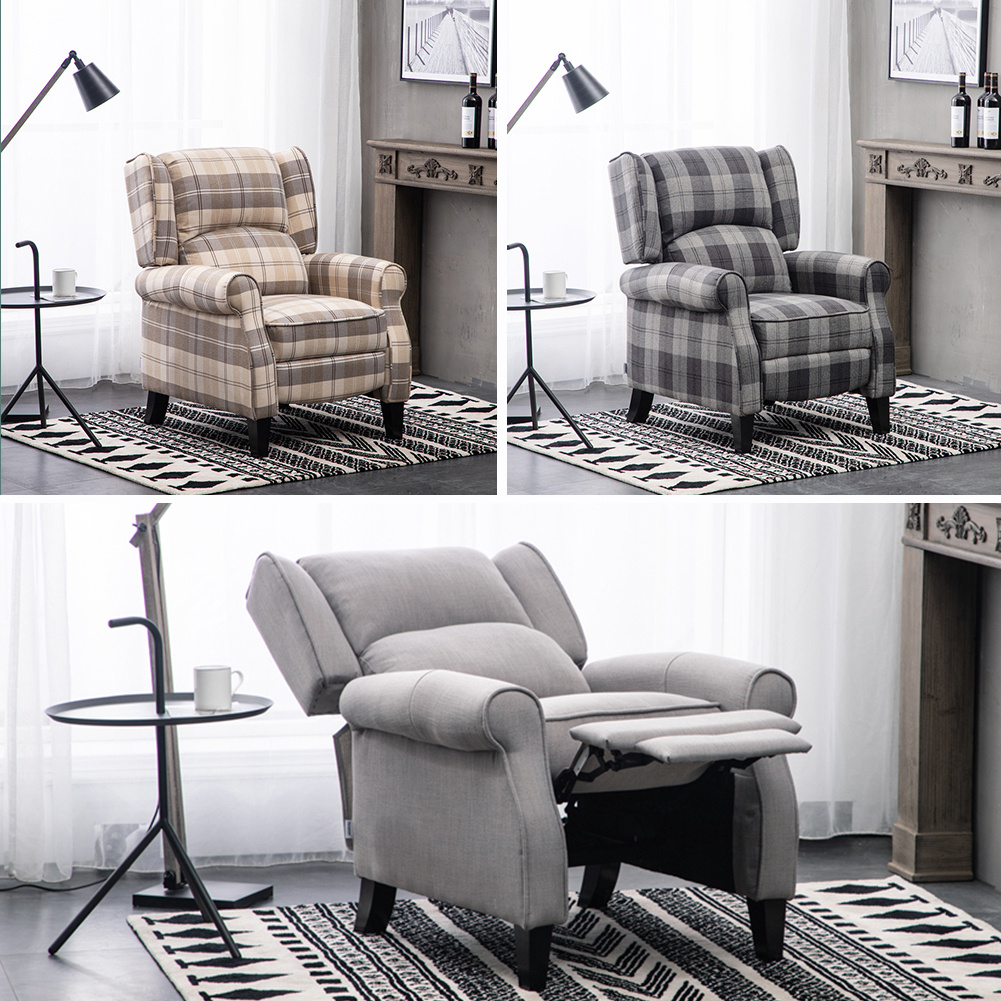 Fabric Recliner Armchair Sofa Large Seat Padded Livingroom Relax