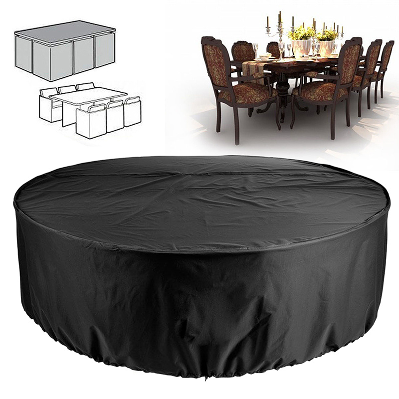 S M L XL Table Waterproof Outdoor Garden Furniture Cover Round Rectangle Cove