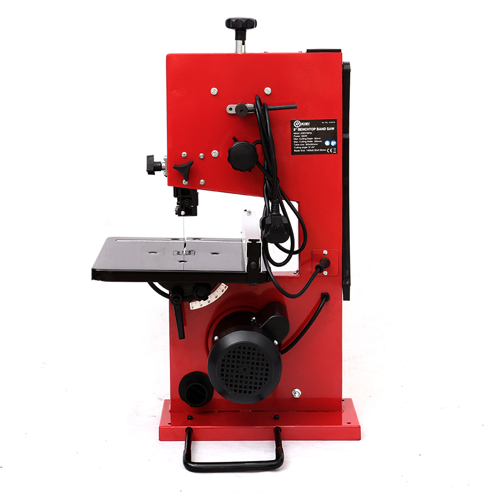 """details about 8"""" 350w 200mm band saw table saw & blade benchtop woodworking  cutting machine uk"""
