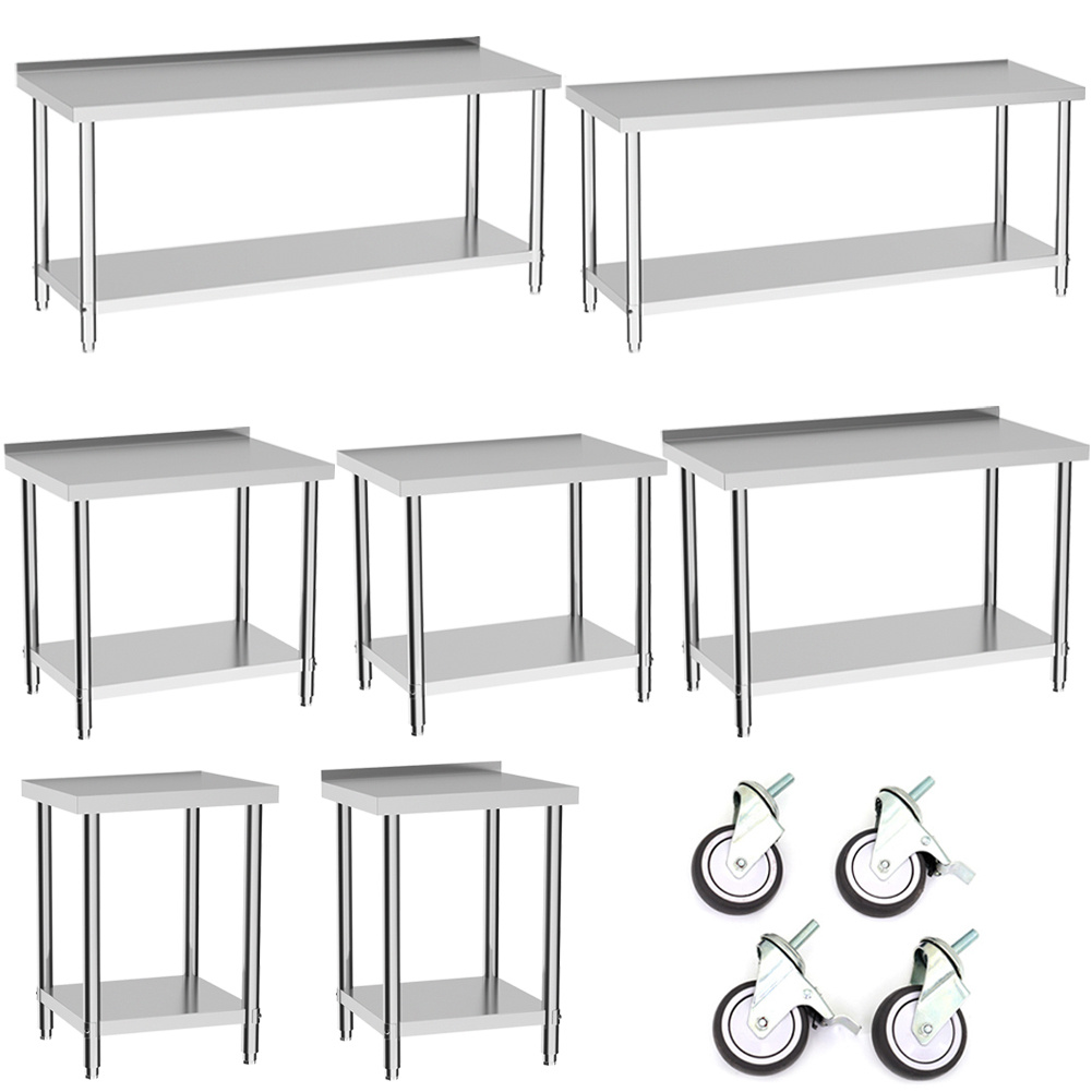 Excellent Details About Stainless Steel Commercial Catering Table Work Bench Kitchen Worktop 2 3 4 5 6Ft Alphanode Cool Chair Designs And Ideas Alphanodeonline