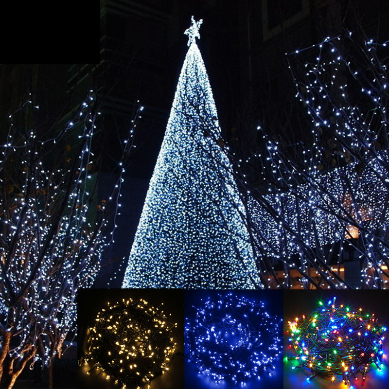 Outdoor String Lights Mains: Electric Mains 200-400 LED Garden Party Xmas String Fairy