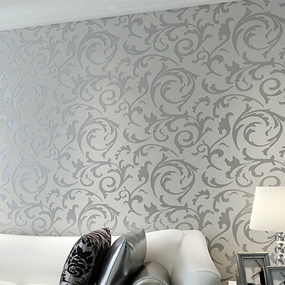 Details About 3d Embossed Textured Wall Paper Modern Wallpaper Roll For Living Room Bedroom Uk
