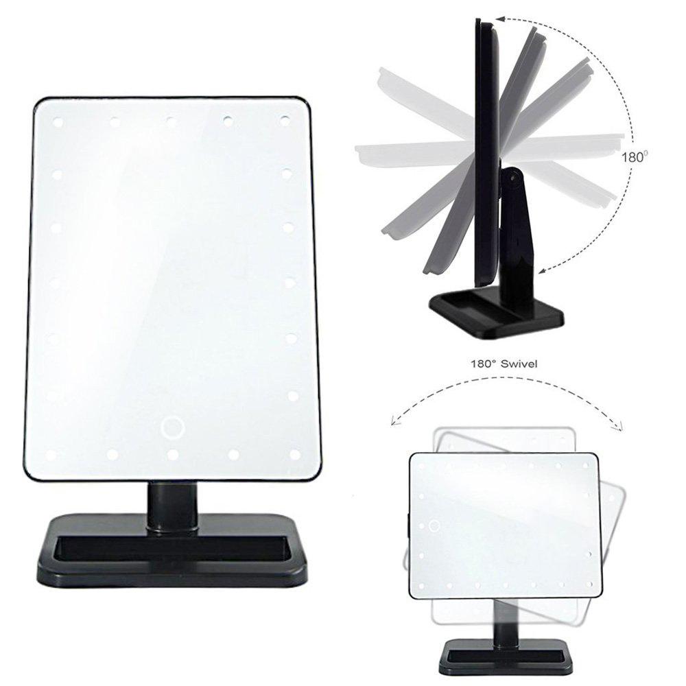 Vanity Light Adjustable : Desktop 20 LEDs Lighting Adjustable Makeup Bedroom Vanity Dressing Table Mirrors eBay