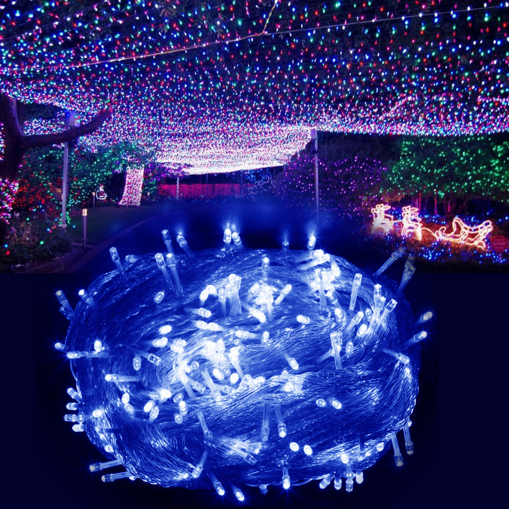Electric String Garden Lights : Electric 500Leds Fairy String Lights Garden Christmas Display Tree Outdoor White