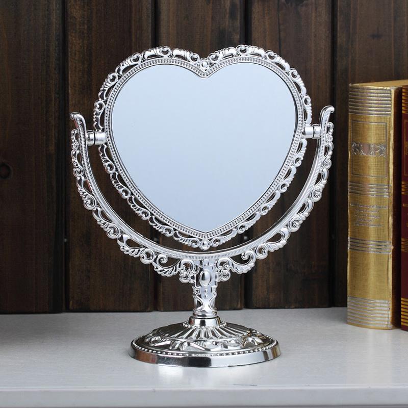 Silver Black Cream Vintage Stand Free Standing Vanity Mirror Oval Heart Bathroom Ebay