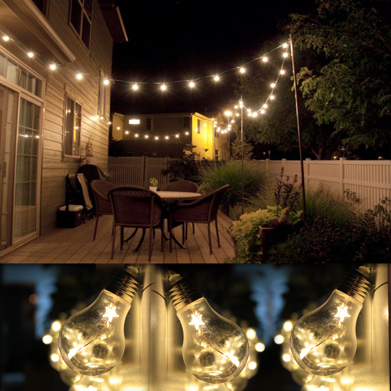 Vintage Led String Lights Merchsource : Vintage/Industrial 10 Big EDISON BULBS Set of 20 LED Fairy Marquee Lights Gazebo