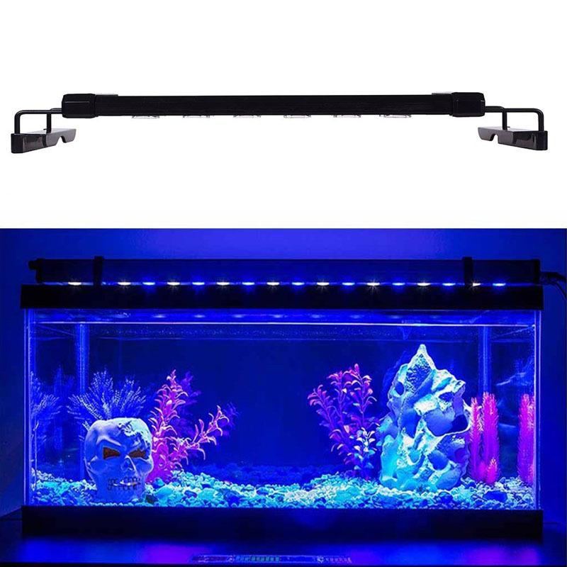 28 117cm aquarium fish tank over head led smd lamp light for Fish tank hoods