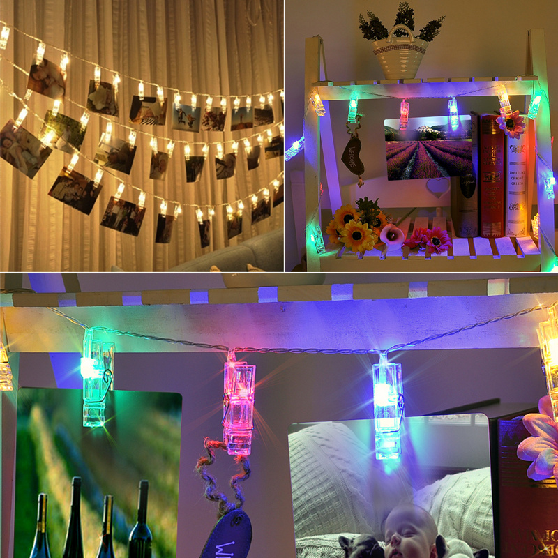 String Lights For Children S Bedrooms : 20/40LED Peg Clip Hanging Photo Picture Fairy String Light Bedroom Children Room eBay