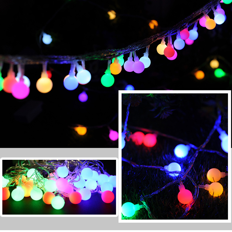 10M 100LED Festoon Berry Balls Fairy String Cool White Tree Party Lights Wedding eBay