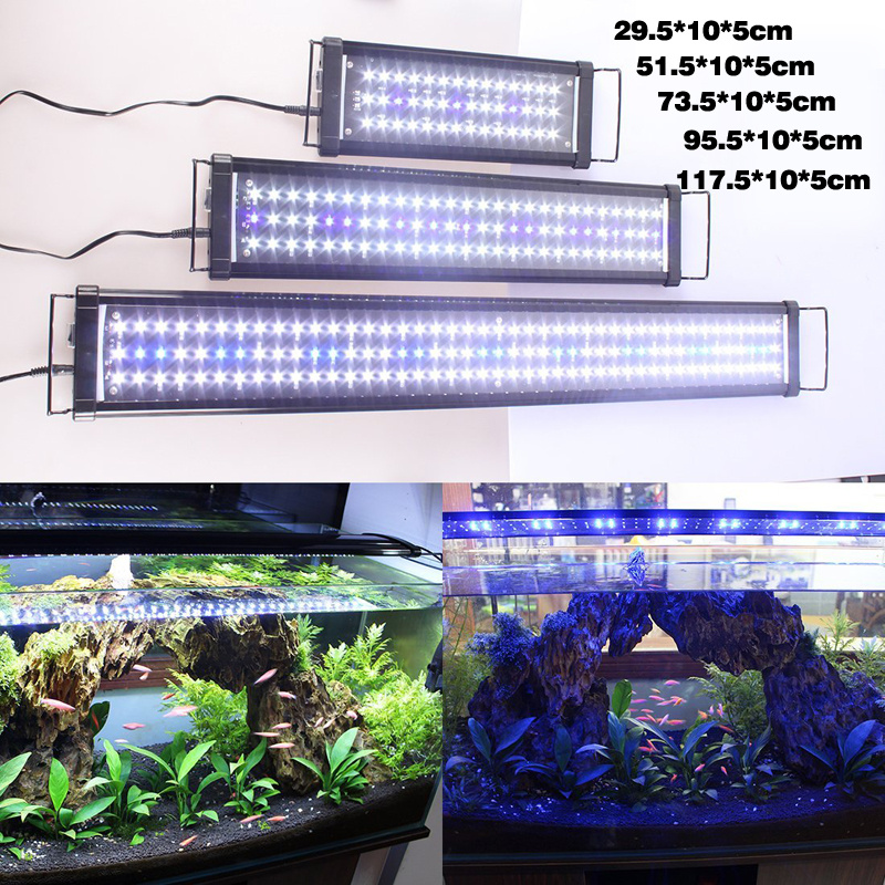 Aquarium led lighting marine aqua fish tank light tropical for Hydroponic fish tank
