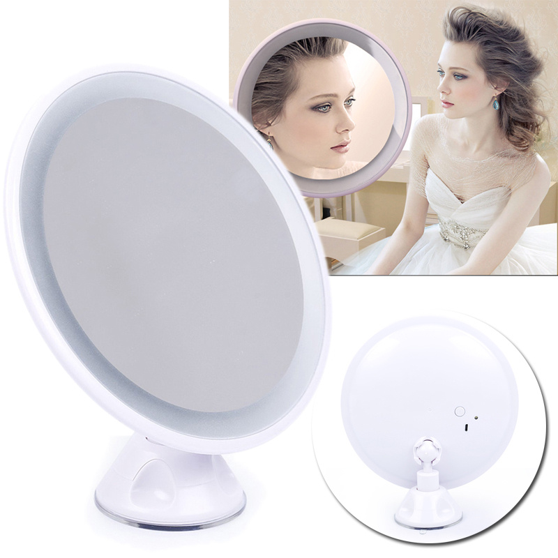 7x Magnifying Suction Cup Bathroom Shaving Make Up Lighted
