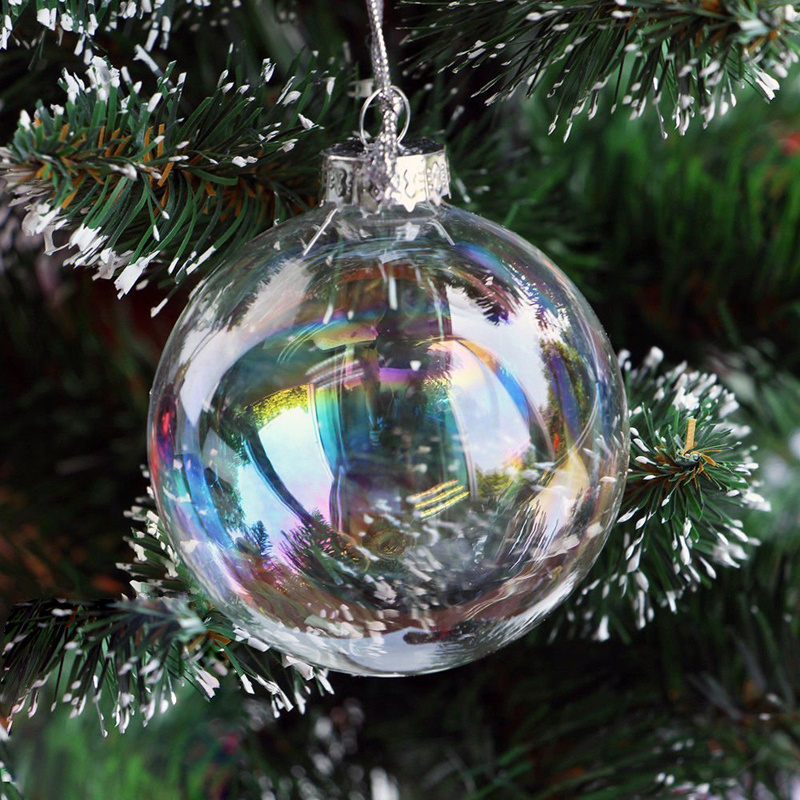 36pcs Clear Glass Baubles Fillable Sphere Hanging Balls Baubles for Xmas Wedding