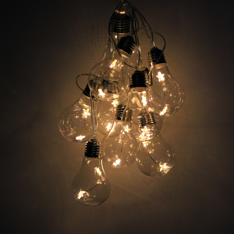 Edison Globe String Lights : Battery Large Festoon Bulb String Fairy Lights Backyard Warm 2M 20 LED Christmas eBay