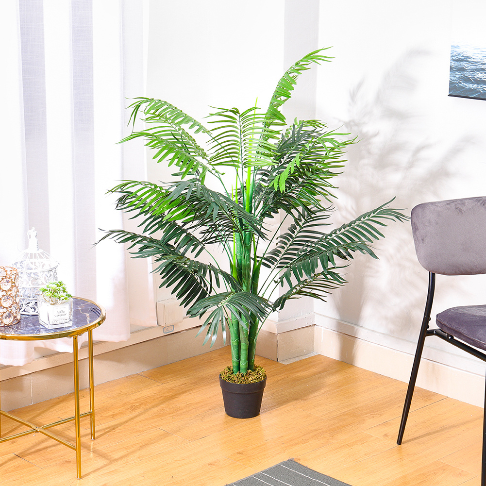 125CM Potted Artificial Areca Palm Home//Office Decor Fake Plant Indoor Flower AU